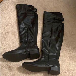 Bamboo boots black over knee sz 7.5 women's